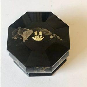 Verdura 18k YGold, shungite, pyrite stone box